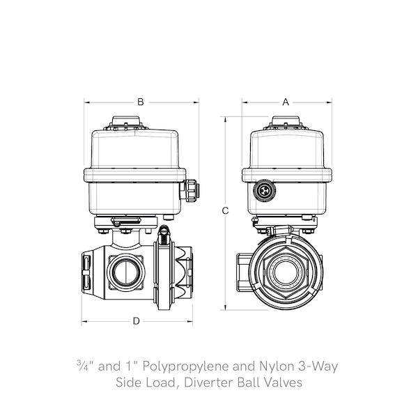 3-Way, Side Load Diverter Ball Valves