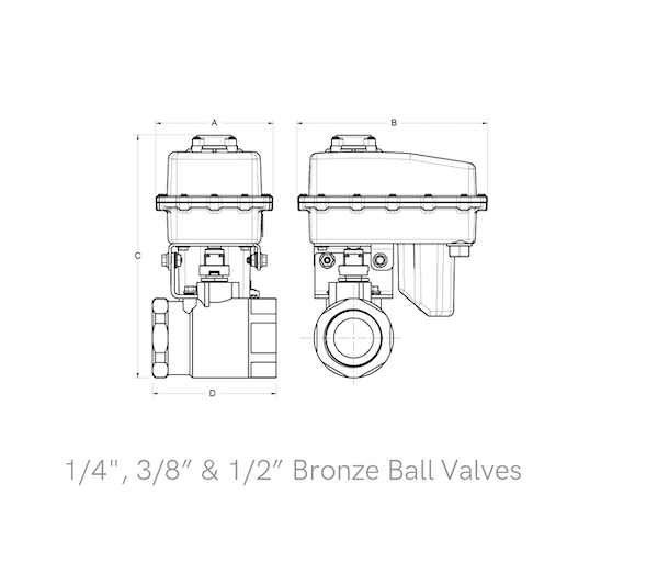 2-Way Bronze Ball Valves