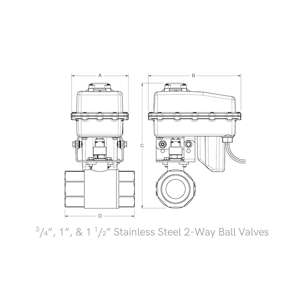 2-Way Stainless Steel Ball Valves