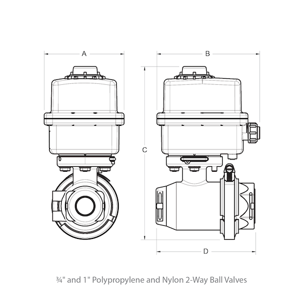 2-Way Motorized Ball Valves